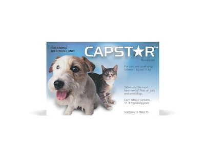 Capstar For Cats & Small Dogs 0.5-11kg 6 Pack