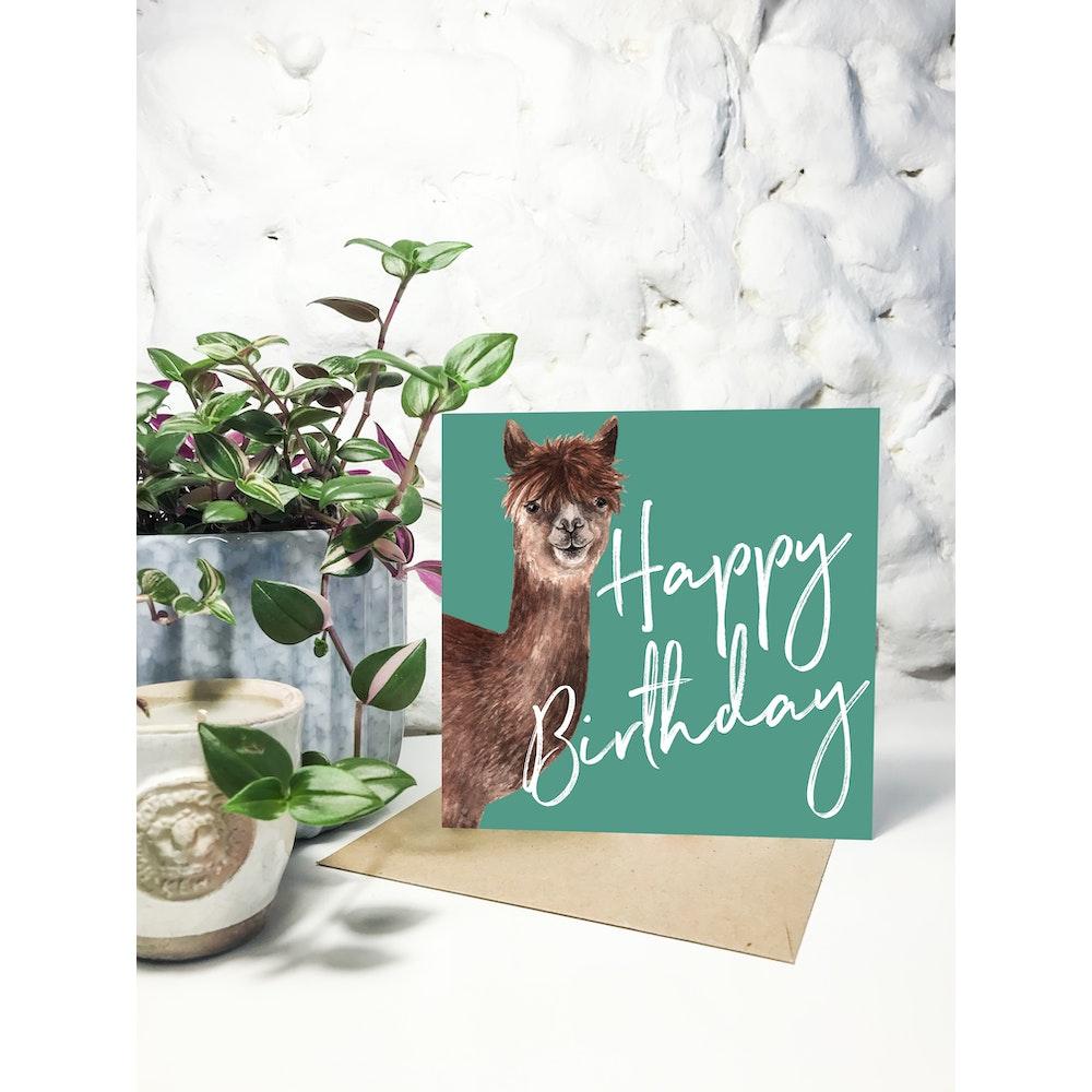 Laura Elizabeth Illustrations Alpaca Greetings Card