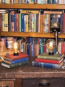 Repurposed Book Stack Lamp