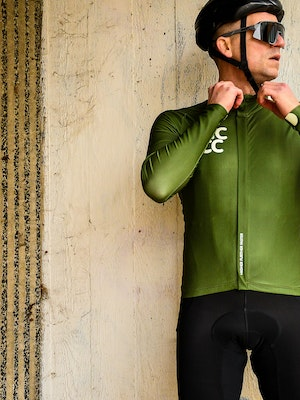 TIC CC Omloop thermal long sleeve jersey Forest green