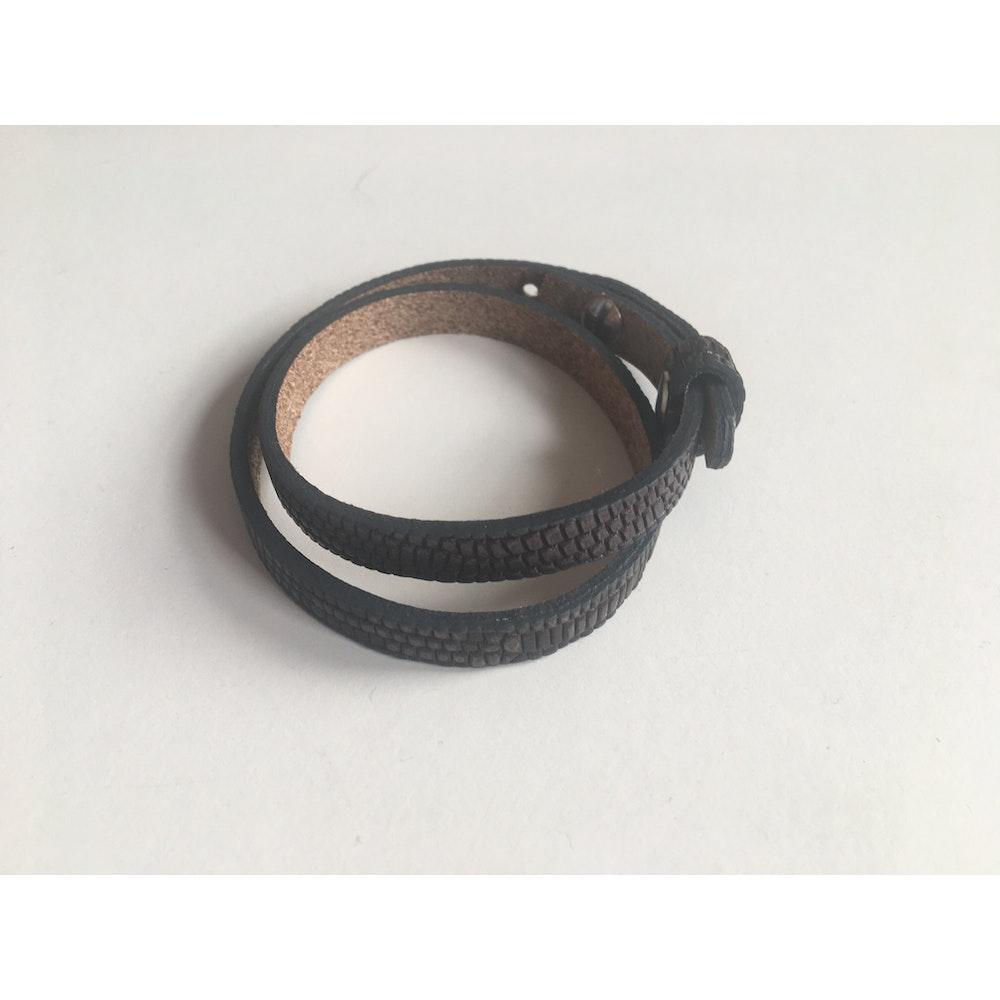 One of a Kind Club Snakeskin Thin Leatherette Bracelet