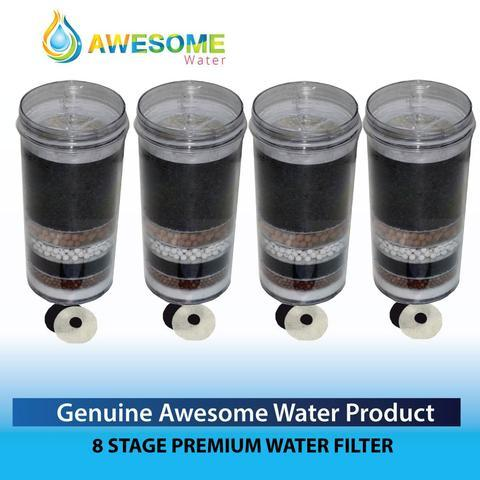 Awesome Water filters, Buy 3 get one extra -FREE- Package Deals (7 Stage Pack) Buy 3 stage filter cartidges and get one filter cartridge free! The ever popular multi-layered  stage filter cartridge has a unique filtration process that is designed to purify your drinking water. Naturally, the  layer filter cartridges goes two steps further than the old 5 layer filter cartridge option.  Through the multi-stage process, the filter removes impurities in the water to a very high degree. The filter also adds important trace minerals required by our bodies.   Filters are fitted inside the filtration bottle - thus ensuring consistently clean fresh water.