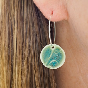 Petite Fishes Turquoise Hoops