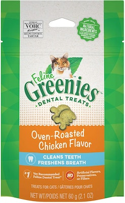 Greenies Cat Dental Treats Oven Roasted Chicken Flavour - 2 Sizes