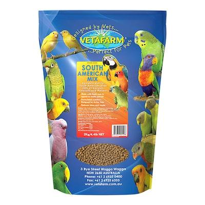 Vetafarm South American Large African Parrot Bird Food Mix - 3 Sizes