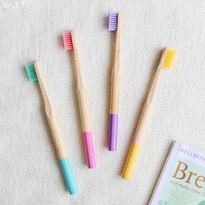 Ekoroo 4pk Bamboo Toothbrush Set   Medium Bristles