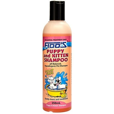 Fidos Puppy & Kitten Shampoo Soap Free Cleans & Conditions - 3 Sizes