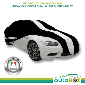 Black XL Show Car Cover Indoor Dust Classic fits 5.4m Ford Chevrolet 55 56 57
