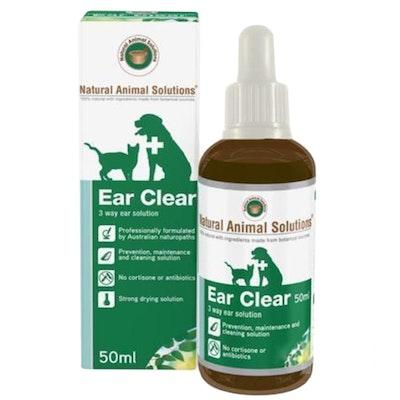 Natural Animal Solutions Nas Ear Clear Animal Ear Wash 50ml