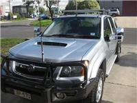 GoSeeAustralia Colorado tow tug with Clearview mirrors and Rola pack bars
