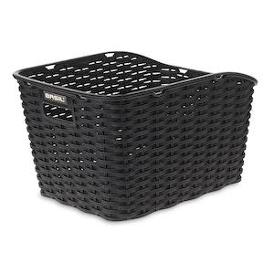 Basil Weave Synthetic Rear Basket Black