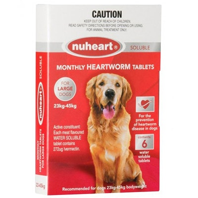 Nuheart Large Dogs Easydose Soluble Heartworm Tablets
