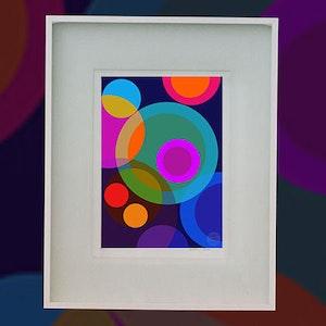 Lunar Epic - Modernist limited edition art print