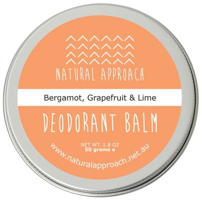Natural Approach 50g - Bergamot, Grapefruit & Lime - Natural Deodorant