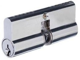 Archie Hardware lazy cam 5-Pin screen door lock cylinder in chrome plate