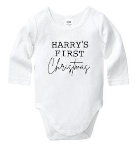 Personalised First Christmas Onesie