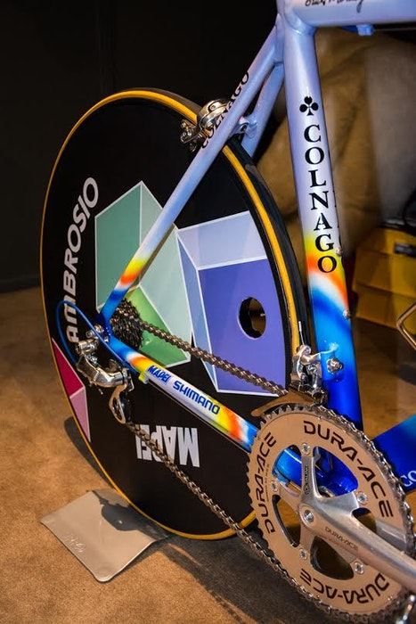 Fabio s Colnago Mapei Collection disc wheel