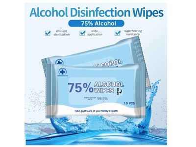 Boutique Medical 100pcs 75% Alcohol Cleansing Wipes 99.9% Sterilization Rate Clean Sterile