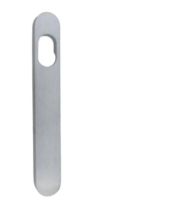 dormakaba narrow style outer round end plate with cylinder hole concealed fixing in SCP finish