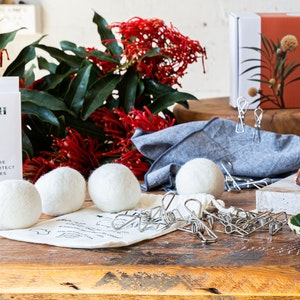 Us and the Earth Eco Friendly Laundry Bundle   Pegs & Dryer Balls