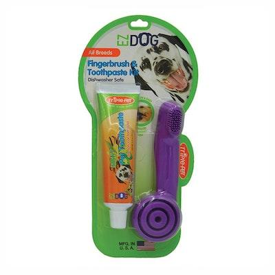 Triple Pet Ez-Dog Finger Kit Toothbrush & Paste for Dogs