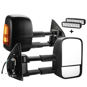 SAN HIMA SAN HIMA Pair Extendable Towing Mirrors for Holden Colorado 2012 - ON BLACK