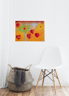 Diilhami Art Golden Orb Art Print 425 x 300mm