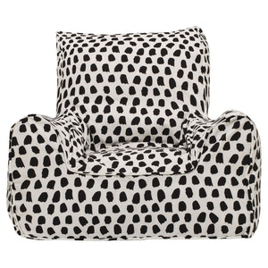Play Pouch Splotches Bean Chair - Black & White
