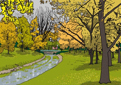 Print - O'Sullivan's Creek