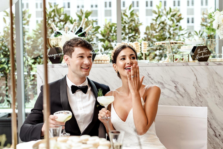 A golden affair modern wedding at the westin editorial lenzo a golden affair modern wedding at the westin junglespirit Images