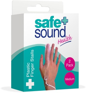 Safe + Sound Plastic Finger Stall Reusable Medium