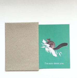 """""""I'm nuts about you"""" greeting card 