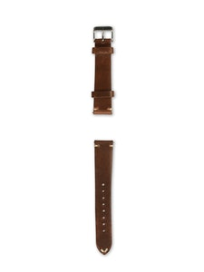 Geneva Blue - Horween Brown Leather Strap