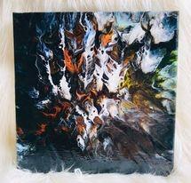 Original Paint Poured Artwork-Feathers in Flight