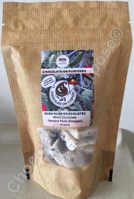 Chocolate On Purpose White Chocolate with Illawarra Plum (Daalgaal)