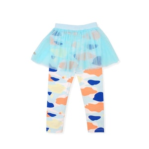 OETEO Australia Camo Flash Tulle Skirt Leggings (Blue)