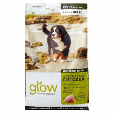 GLOW Large Breed Puppy Australian Chicken Dry Dog Food 3kg