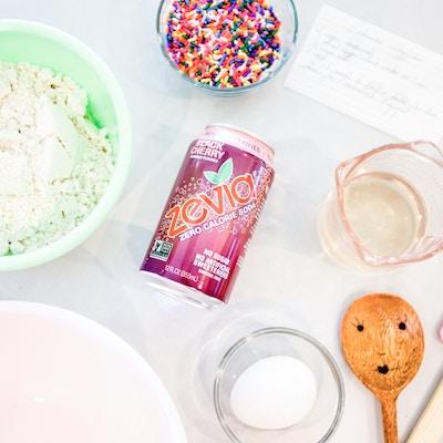 DIY SODA POP WAFFLE CAKE