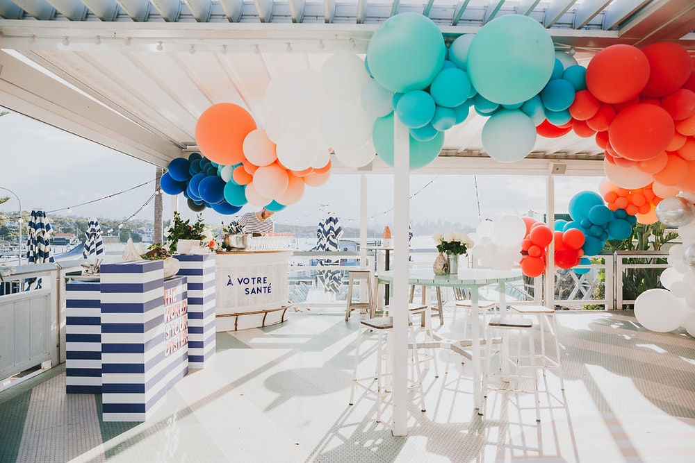 Watsons Bay Boutique Hotel Corporate Event Bubble Moo Balloons