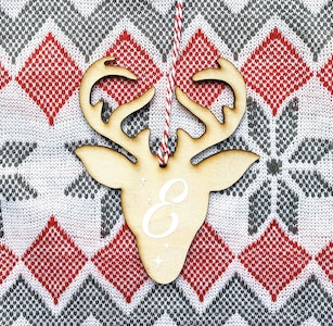 Personalised Reindeer Ornament
