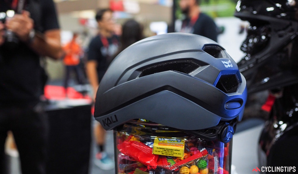 Kali Tava aero road cycling helmet back InterBike 2016 CyclingTips 43053