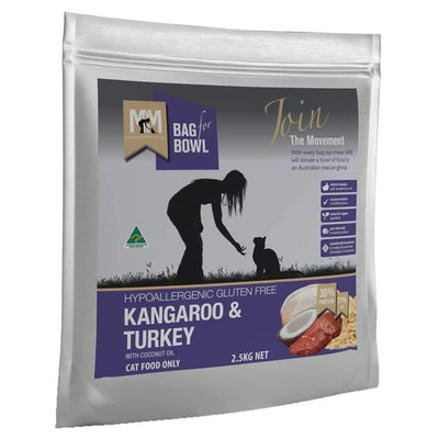 MEALS FOR MUTTS Meals For Meows Adult Kangaroo & Turkey Dry Cat Food