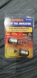 Hansa Stop Tail Indicator BAZ15D Offset Pins (X6 Globes) 24v