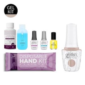 DIY Gel Manicure Kit + Nude Gel Polish | Seven-Piece Salon Essential Nail Set