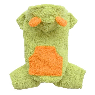 DoggyDolly SMALL DOG - Fluffy Dog Lime Onesie