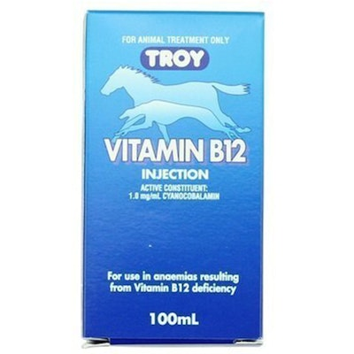 Troy Vitamin B12 Boost for Dogs Cats Horses Cattle 100ml