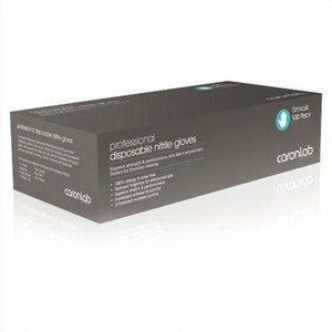 Caronlab Disposable Nitrile Gloves Free Powder Large 100 Pack High Quality Soft