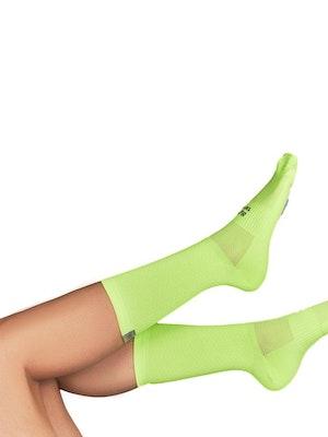 """Taba Fashion Sportswear Media Ciclismo Rombito Verde Neon 7"""""""