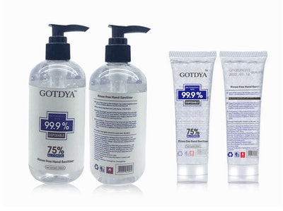 GOTDYA Hand Sanitiser Gel 75% ethanol - 80ml & 300ml