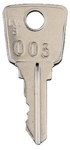RSP LW3 Key cut to 003 fire brigade code.
